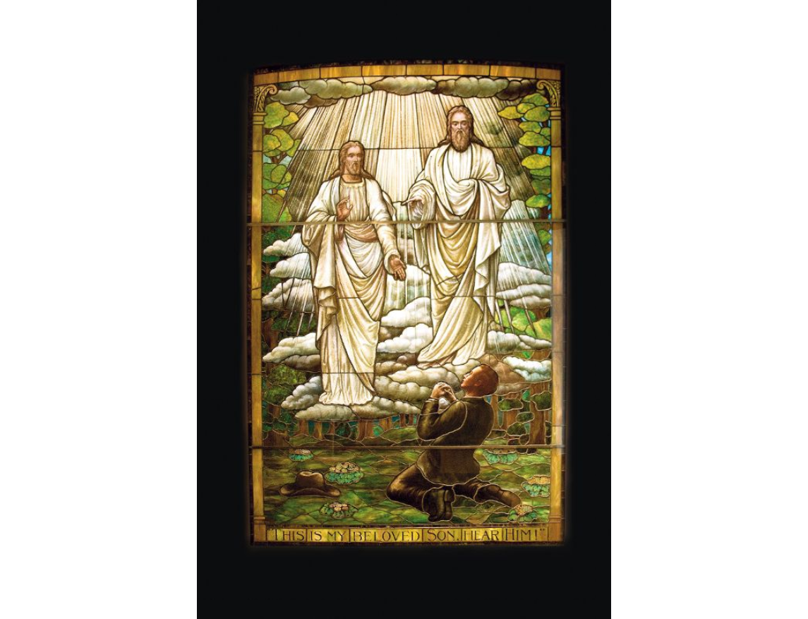 First Vision stained glass - artist unknown, ca 1915