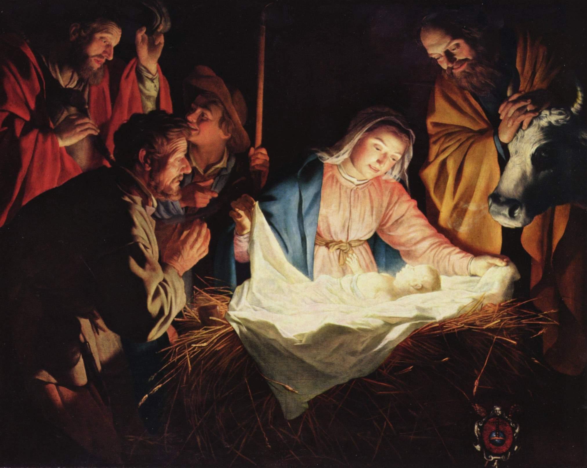 Gerard van Honthorst, Adoration of the Shepherds (1622)