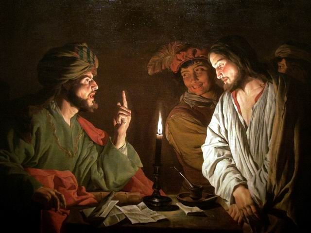 "Mattias Stom, ""Christ before Caiaphas"" (ca. 1630)"