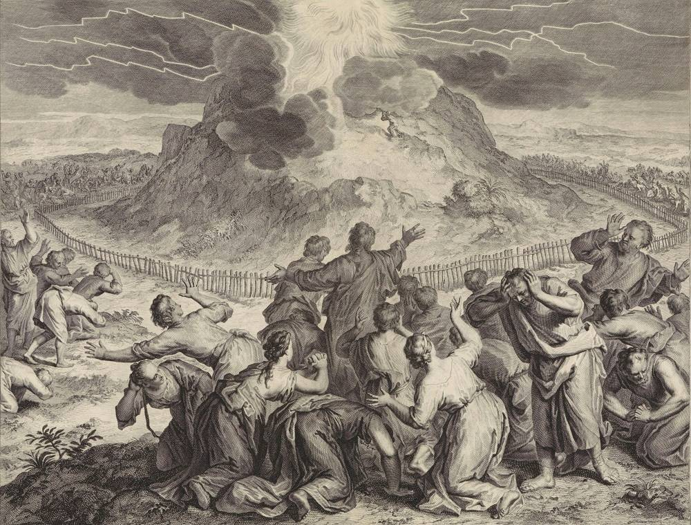 Moses speaks with God – Gerard Hoet (1728)